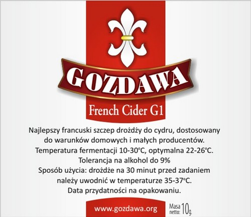 Drożdże do cydru FCG1
